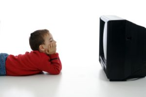 kids watch TV
