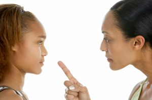 Mother Telling Off Teenage Daughter